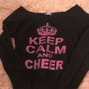 Sweaters - Over the shoulder cheerleading sweater
